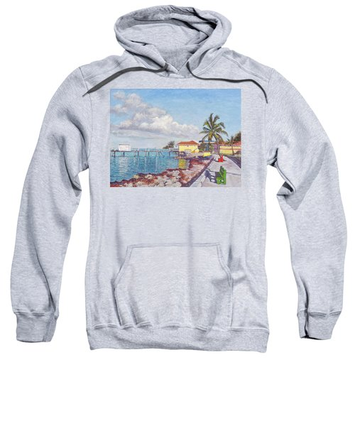 Old Yellow Gas Station By The Waterfront - Cooper's Town Sweatshirt