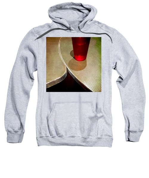 On The Right. #redglass #tables Sweatshirt