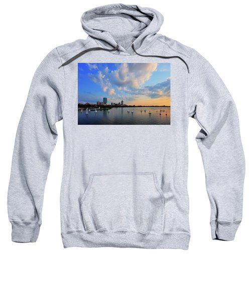 On The River Sweatshirt by Rick Berk