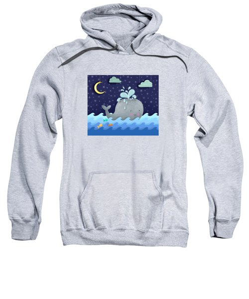 One Wonderful Whale With Fabulous Fishy Friends Sweatshirt by Little Bunny Sunshine