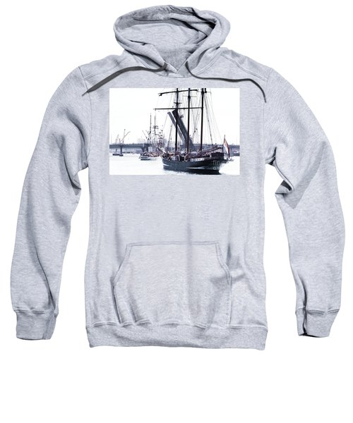 Sweatshirt featuring the photograph Oosterschelde Leaving Port by Stephen Mitchell