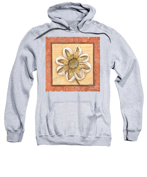 Orange Bohemian Dahlia 2 Sweatshirt