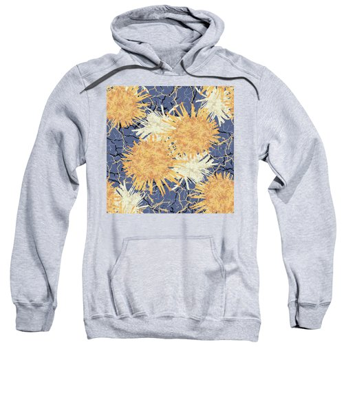 Orange Cobwebs Pattern Sweatshirt