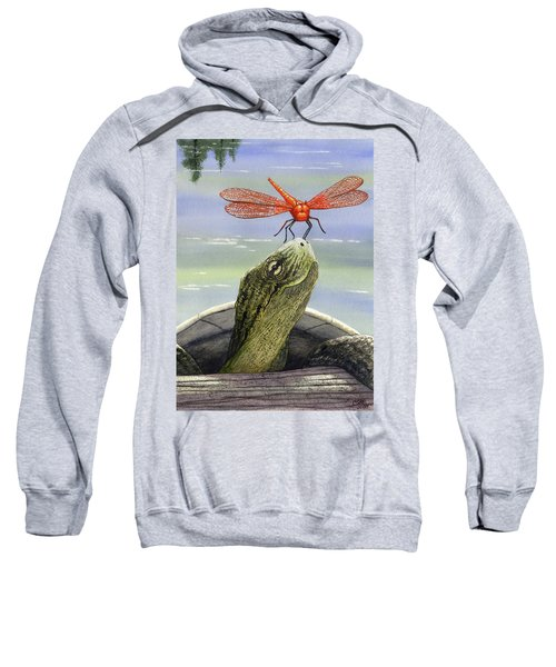 Orange Dragonfly Sweatshirt
