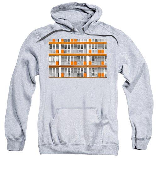 Orange Exterior Decoration Details Of Modern Flats Sweatshirt
