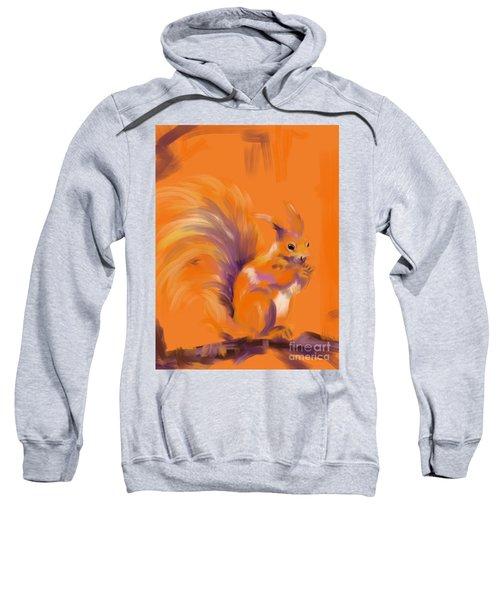 Orange Forest Squirrel Sweatshirt