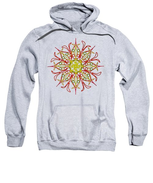 Orange Flower Sweatshirt