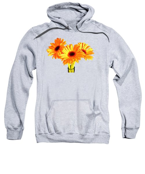 Orange Gerbera's Sweatshirt by Scott Carruthers