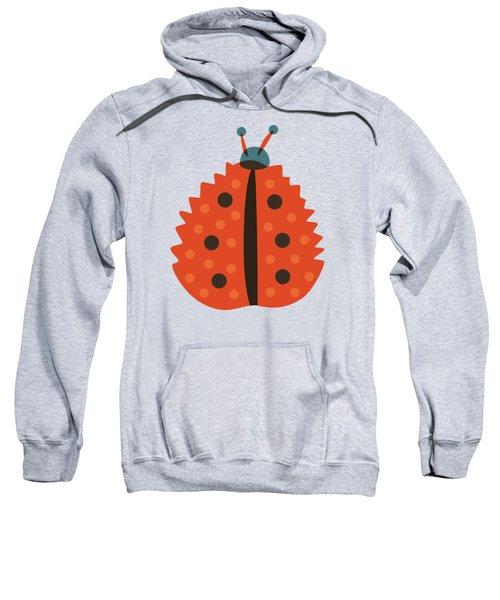 Orange Ladybug Masked As Autumn Leaf Sweatshirt