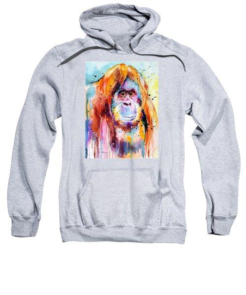 Orangutan  Sweatshirt by Slavi Aladjova