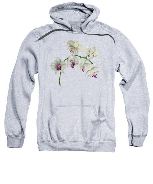 Orchid Watercolor Painting Sweatshirt