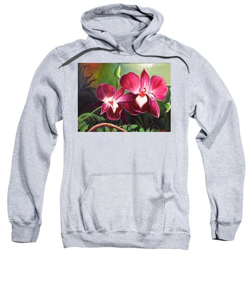 Orchids In The Night Sweatshirt