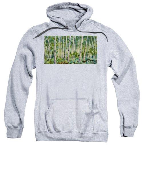 Original Watercolor - Summer Aspen Forest Sweatshirt