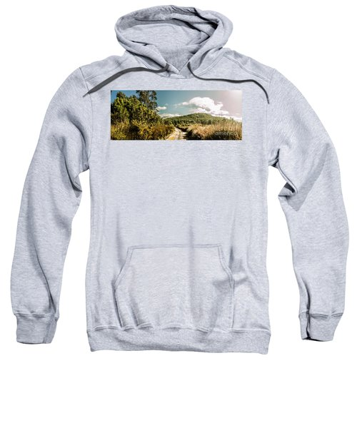 Outback Country Road Panorama Sweatshirt