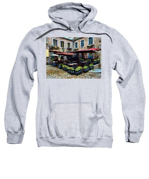 Outdoor French Cafe In Old Quebec City Sweatshirt