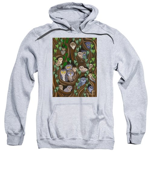 Owls In The Ancient Forest Sweatshirt