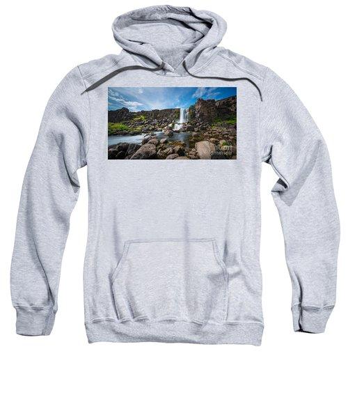 Oxararfoss Waterfall  Sweatshirt