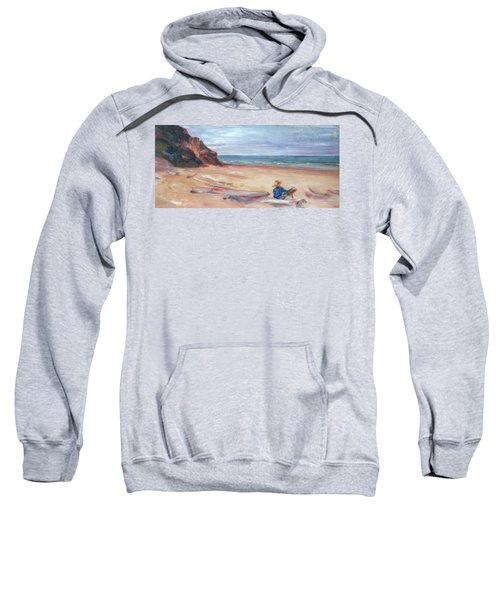 Painting The Coast - Scenic Landscape With Figure Sweatshirt