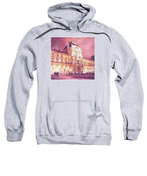 Palais Du Louvre En Rose Sweatshirt by Aurella FollowMyFrench