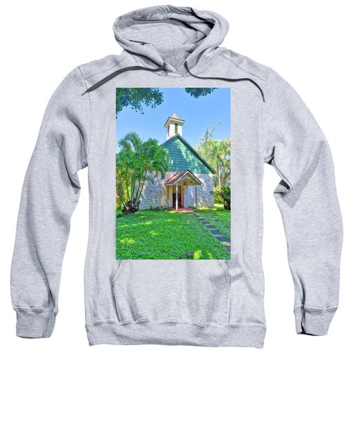 Sweatshirt featuring the photograph Palapala Ho'omau Congregational Church by Jim Thompson