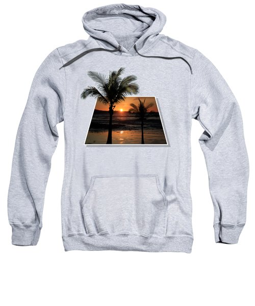Palm Trees At Sunset Sweatshirt