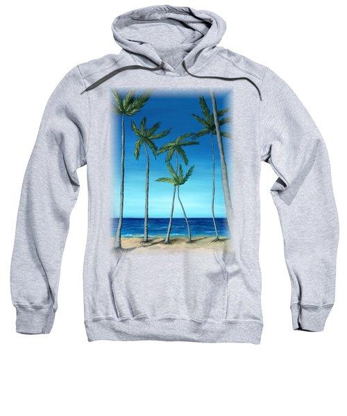 Palm Trees On Blue Sweatshirt