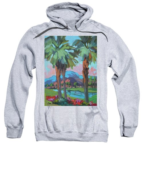 Palms And Coral Mountain Sweatshirt