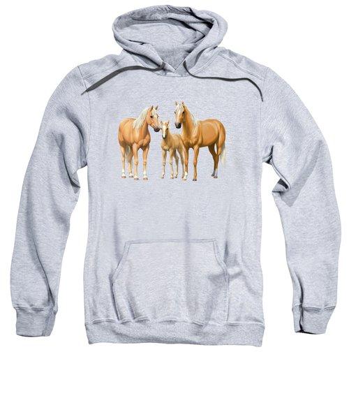 Palomino Horses In Winter Pasture Sweatshirt