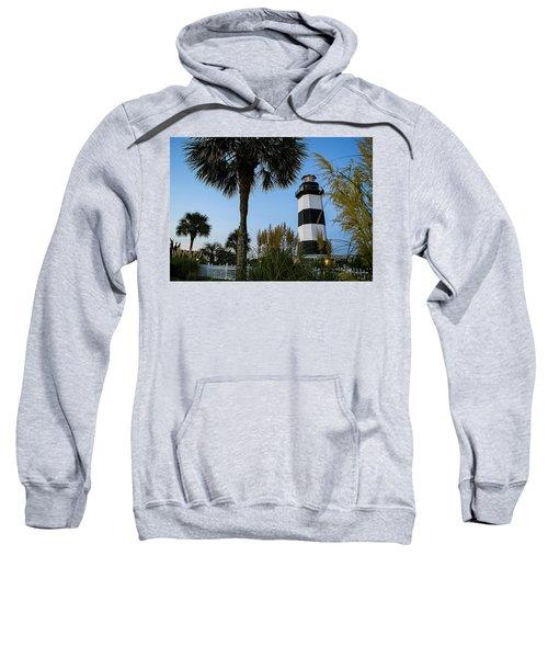 Pampas Grass, Palms And Lighthouse Sweatshirt