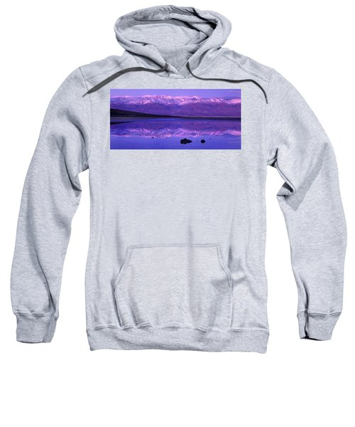 Panorama Badwater And The Panamint Range At Sunrise Death Valley Sweatshirt