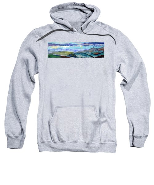 Panoramic View From Exeter Of Devon Hills Sweatshirt