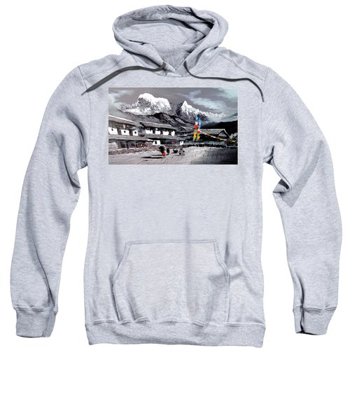Panoramic View Of Everest Base Camp Sweatshirt