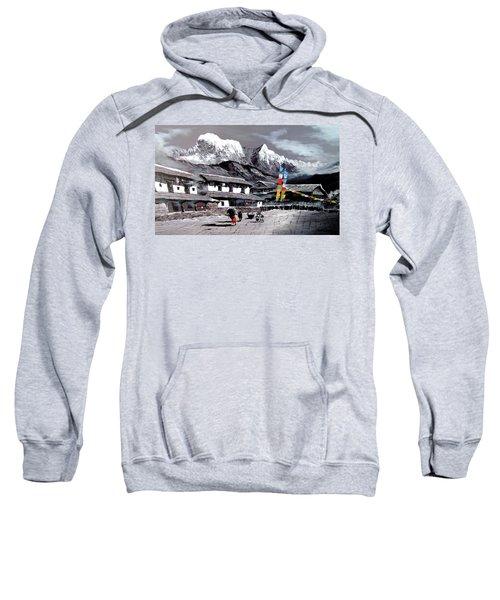 Panoramic View Of Everest Base Camp Sweatshirt