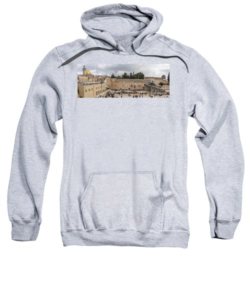 Panoramic View Of The Wailing Wall In The Old City Of Jerusalem Sweatshirt