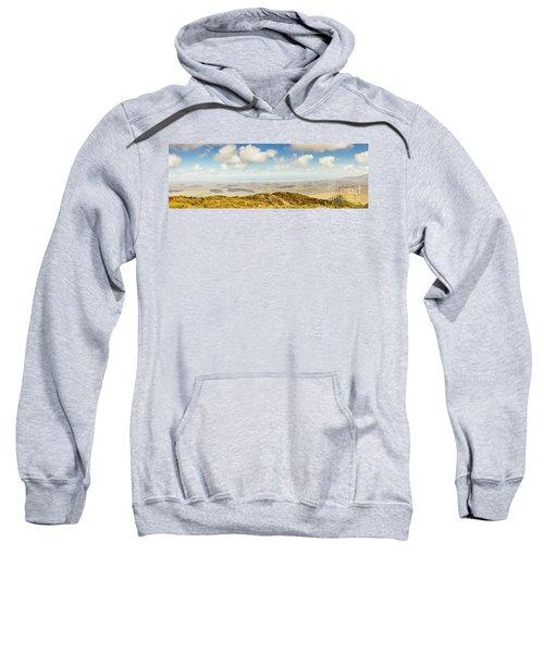 Panoramic Views From Mount Zeehan To Trial Harbour Sweatshirt