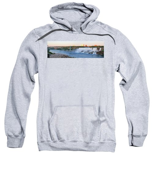 Panoramic Views Of The Peacebridge, Niagara River And American Falls Sweatshirt
