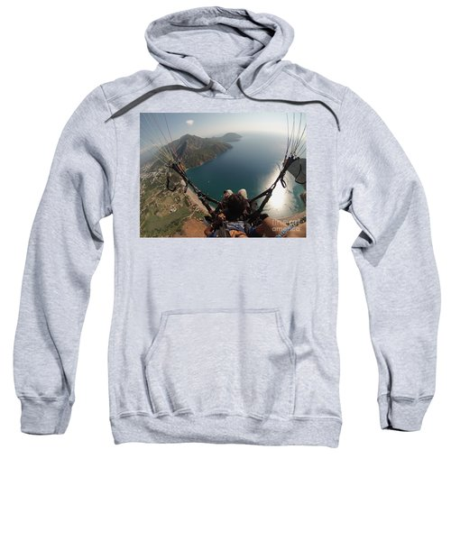 Paragliding Fly Above Laguna Seascape Sweatshirt
