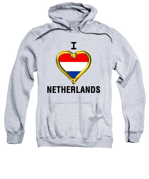 Parchment Background I Heart Netherlands Sweatshirt