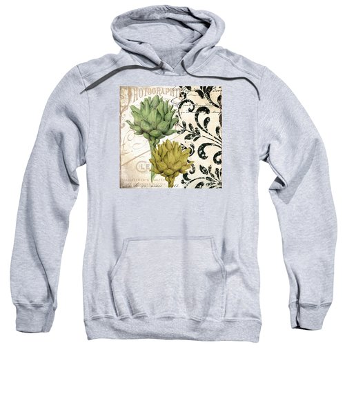 Paris Artichokes Sweatshirt by Mindy Sommers