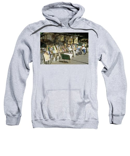 Paris Bookseller Stall Sweatshirt