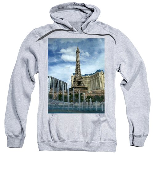 Paris Hotel And Bellagio Fountains Sweatshirt