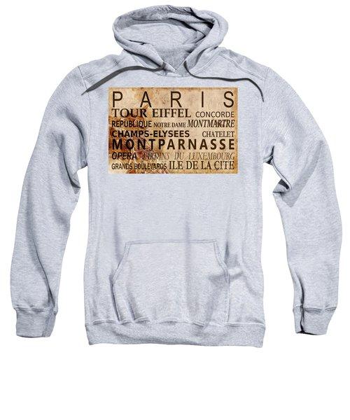 Paris Vintage Poster Sweatshirt