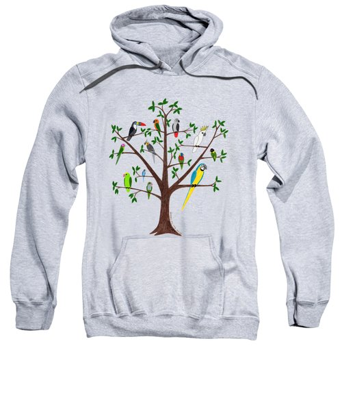 Parrot Tree Sweatshirt by Rita Palmer