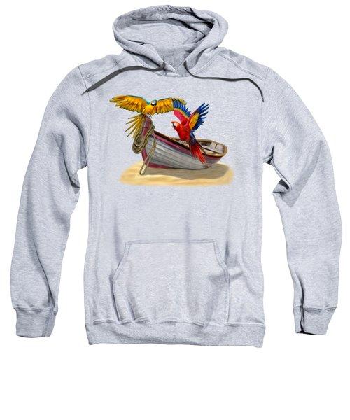 Parrots Of The Caribbean Sweatshirt by Glenn Holbrook