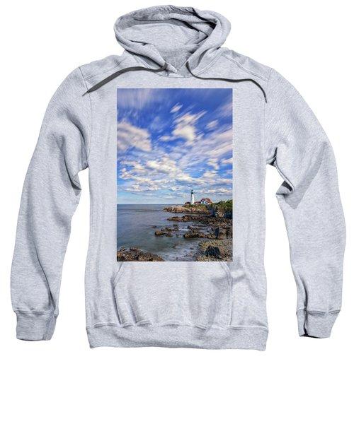 Passing Clouds At Portland Head Light Sweatshirt