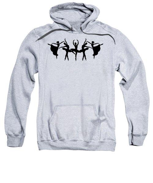 Passionate Dance Ballerina Silhouettes Sweatshirt