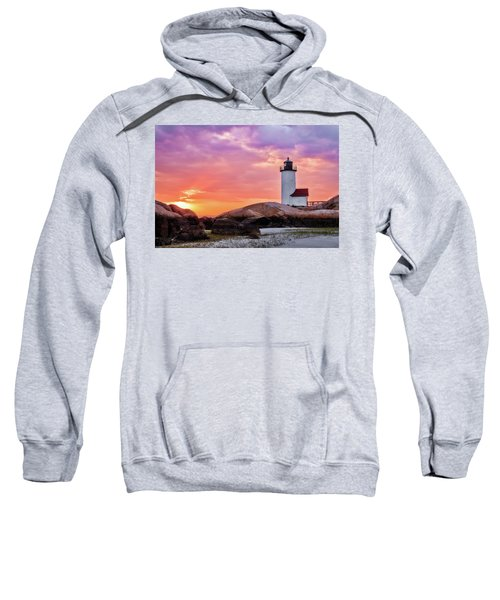 Pastel Sunset, Annisquam Lighthouse Sweatshirt
