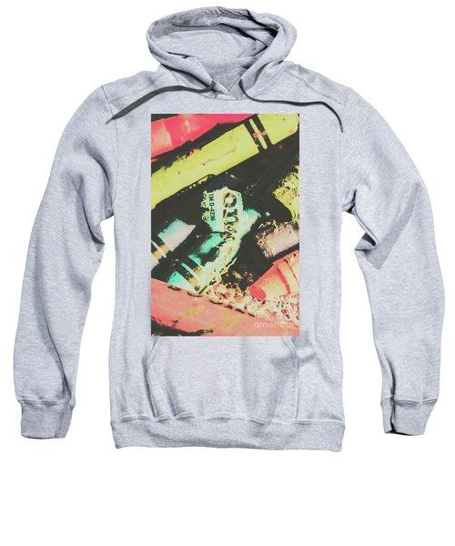 Pastel Toned Crayons Sweatshirt