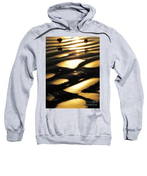 Patchwork Daytona Beach And Seagulls Sweatshirt