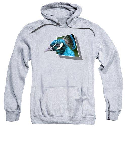 Peacock Sweatshirt by Shane Bechler